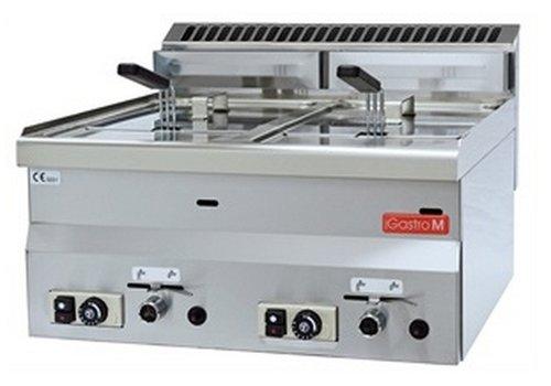 Gastro-M gas friteuse 2x 8 liter | aardgas uitvoering