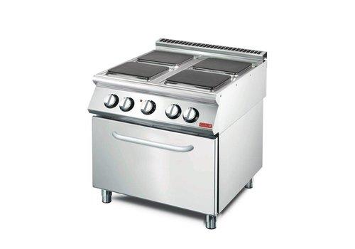 Gastro-M Elektrisch fornuis met heteluchtoven | 4 kookplaten