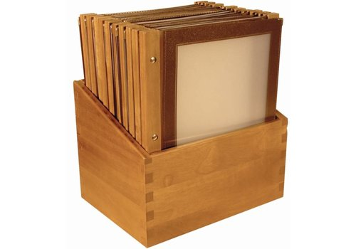 Securit Menu-Box Houten Collectie 20st, Bruin