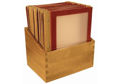 Securit Menu Box Wooden Collection 20st, Wine Red