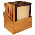Securit Menu-Box Houten Collectie 20st, Zwart