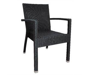 Rotan Stoel Zwart : Luxe zwarte rotan stoel stapelbaar kopen? horecatraders
