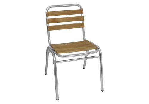 Bolero Stackable Wood / Aluminum Chair | 4 pieces