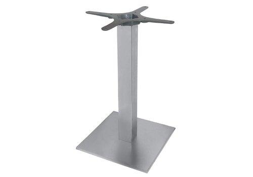 HorecaTraders Stainless steel table leg square - 72 cm high