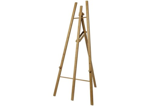 HorecaTraders Tafel Bau von Teak Holz | 100x (H) 165cm