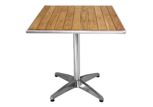 Bolero Catering Terrace Table with wooden top 70x70 cm OUTLET