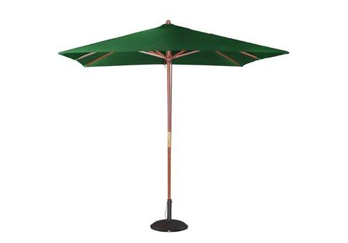 HorecaTraders Green square parasol 2.7 (h) x 2.5 (L) x 2.5 (b) meter