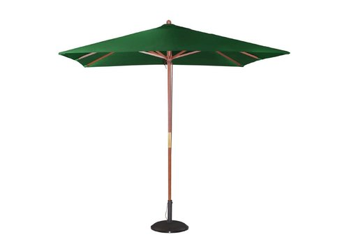 HorecaTraders Groen vierkant parasol 2,7(h)x 2,5(l)x 2,5(b) meter