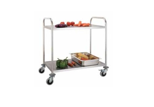 Combisteel Trolley with two steel sheets 86x54x94 (h)