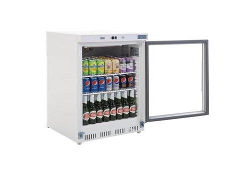 Polar Refrigerator with glass door white 85 (H) x60 (b) x60 (d)