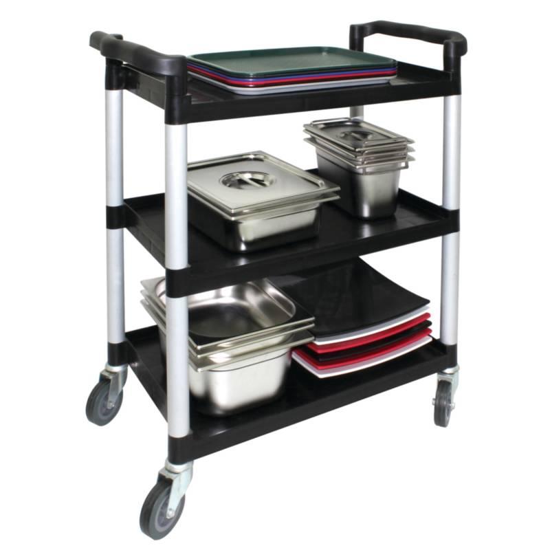 Mobiele Werktafel Keuken : Serveerwagen Kunststof 3 Bladen – HorecaTraders