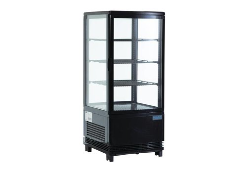 HorecaTraders Compact Black Cooling Vitamin 69 Liter