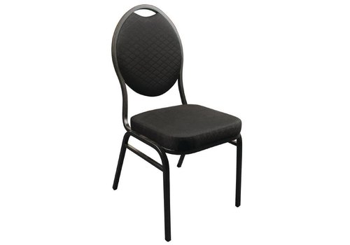 Bolero Stackable Congress Chairs Black | 4 pieces
