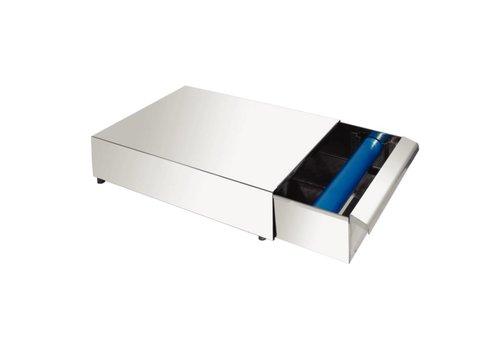 HorecaTraders Stainless steel coffee tray