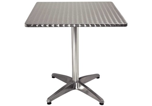 Bolero Square catering table stainless steel 70x70 cm