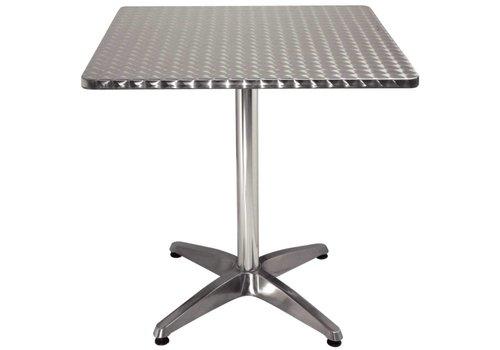 Bolero Vierkant horeca tafel RVS 70x70 cm