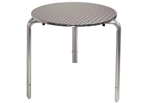 Bolero RVS stapelbare tafel   70 cm rond