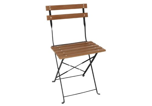 Bolero Wooden Folding Chair Classic Model 2 pieces