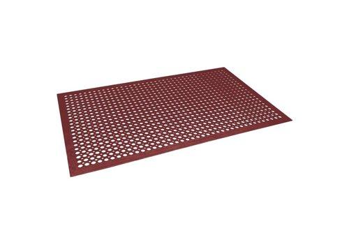 HorecaTraders Antivermoeidheidsmat rood, 0,9x1,5m