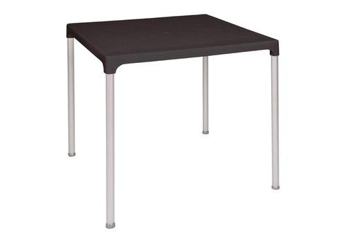 Bolero Vierkante Tafel Zwart   75x75 cm