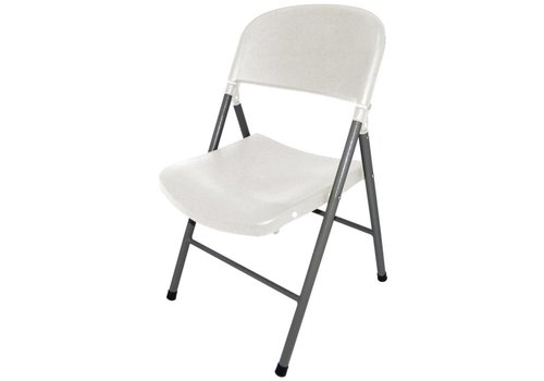 Bolero Inklapbare stoelen Kunststof Wit | 2 Stuks