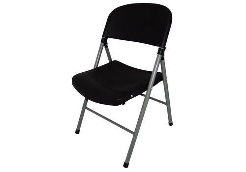 Bolero Folding chairs Plastic Black | 2 pieces