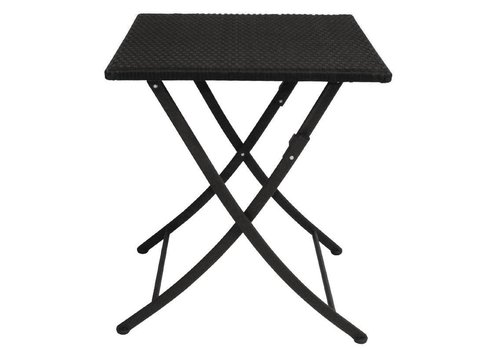 Bolero Bistro Table Square | Black