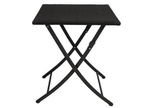 Bolero Bistro Tafel Vierkant | Zwart