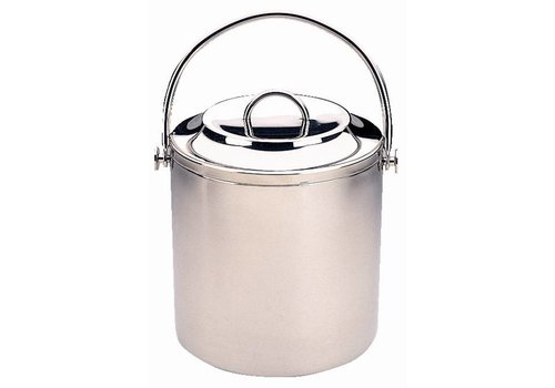 HorecaTraders Double-walled stainless steel ice bucket