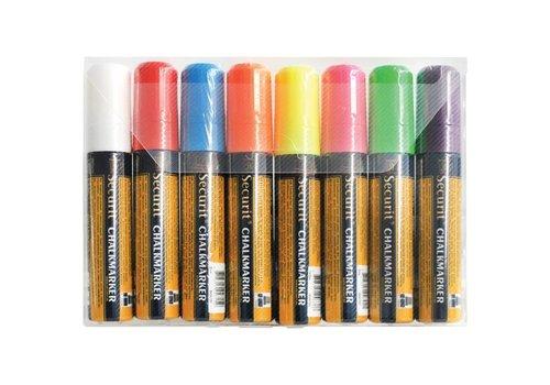 Securit Stiftenset Uitwisbaar   8 Kleuren