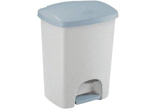 Rubbermaid Plastic Pedal Bucket Gray   40 liters