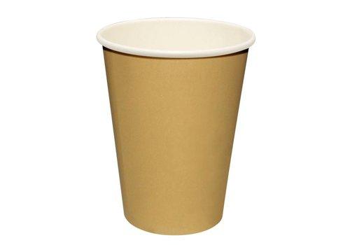 HorecaTraders Wegwerp Koffiebekers Lichtbruin (1000 Stuks) | 3 Formaten
