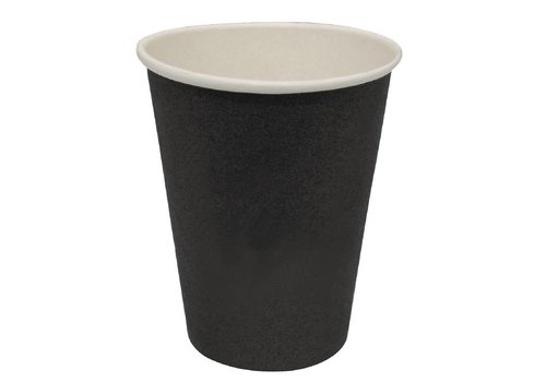 HorecaTraders Koffiebekers Zwart (1000 Stuks) | 3 Formaten