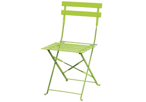 Bolero Steel Bistro Chairs Light Green | 2 pieces
