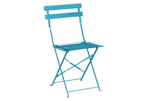 Bolero Steel Bistro Chairs Turquoise | 2 pieces