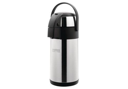 HorecaTraders Stainless steel Coffee Pump jug | 3L