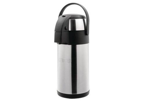 HorecaTraders Pump jug | Stainless steel | 3 liters