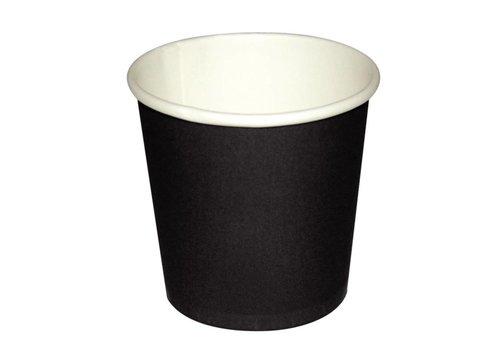 HorecaTraders Dark brown espresso cup | 1000 pieces