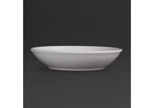 Olympia Weiße Porzellan Ronden 20,5 cm (6 Stück)