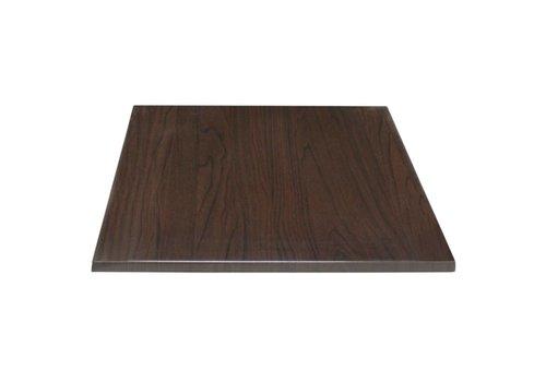 Bolero Vierkant tafelblad donkerbruin | 2 Afmetingen