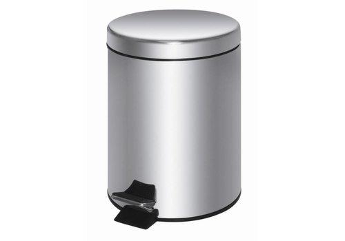 HorecaTraders Pedaalemmer van roestvrij staal | 20 liter