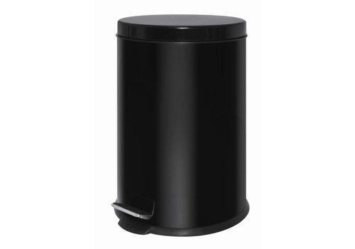 HorecaTraders Plastic Pedal Bucket Black | 20 liters