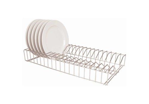 HorecaTraders Stainless steel plate rack 60cm