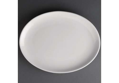 Athena Porcelain oval flat plate | 25 cm (piece 12)