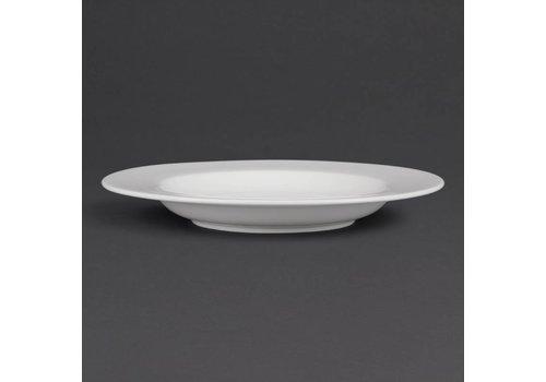 Olympia Pastateller aus weißem Porzellan 31 cm (4 Stück)