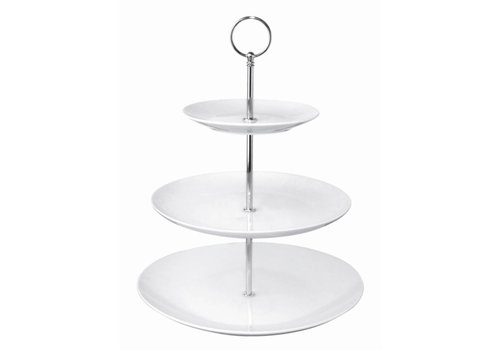 Olympia Etagere Porcelain Round | 3 Floors