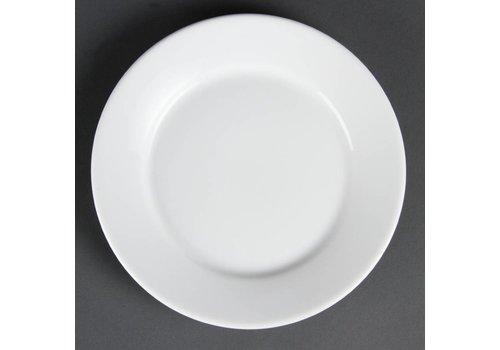 Olympia Horeca borden wit brede rand 23 cm (12 stuks)