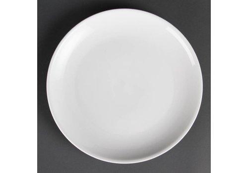 Olympia Weiße Porzellanteller rund 28 cm (6 Stück)