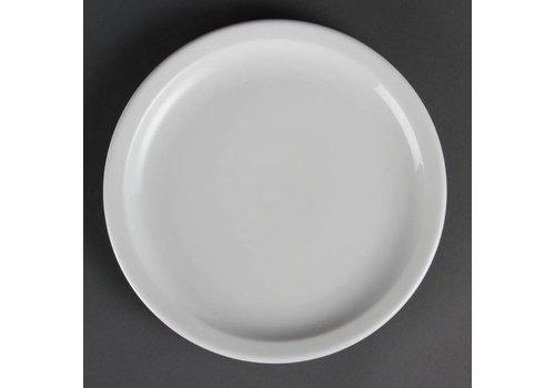 Olympia Porselein lunchbord met smalle rand 23 cm (stuks 12)