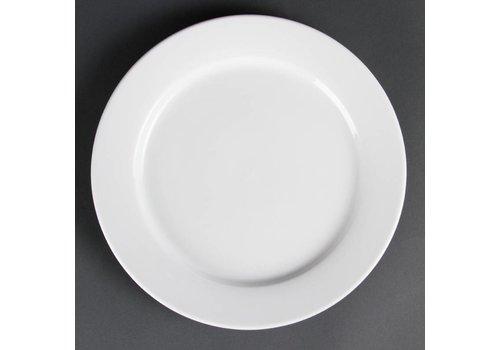 Olympia Witte Borden met brede rand 28 cm (stuks 6)